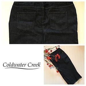 NWOT Coldwater Creek Denim Skirt